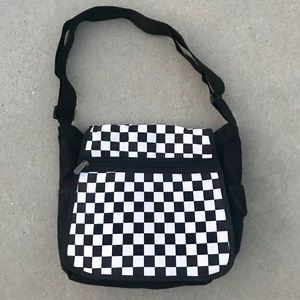 Handbags - messenger BAG crossbody checkered BLACK mens women